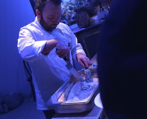 Middag XXlofoten - trolldeigsbakt blåkveite -kjøkkensjef, Einar Hallstensen